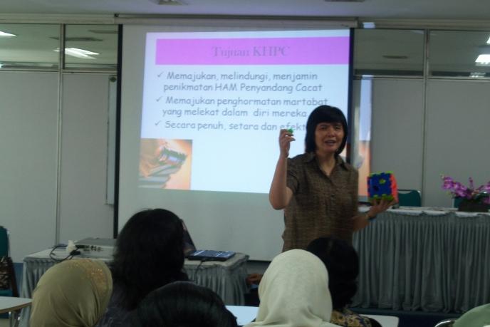 CRPD training at RSAB Harapan Kita
