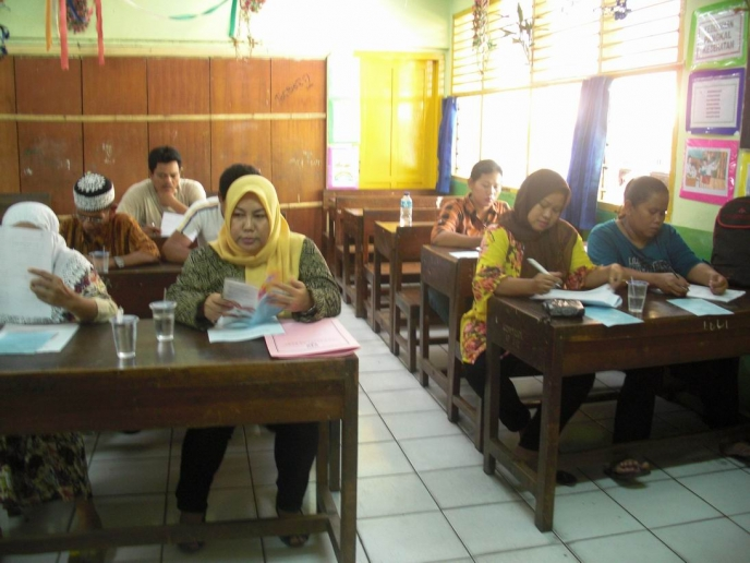 inclusive education training at SDN Slipi 18